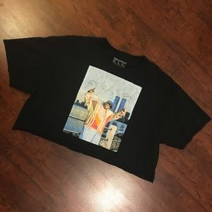 Black Cropped Notorious B. I. G. Top